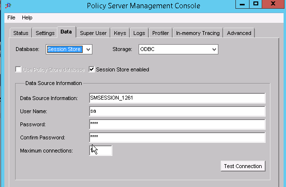 enable session store